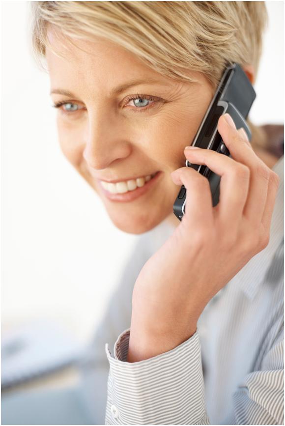 TCC client enjoying telephone life coaching
